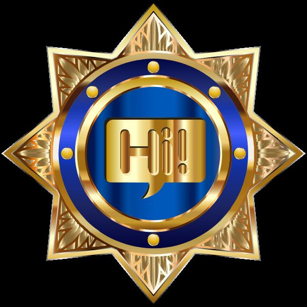 Gold Hi Badge