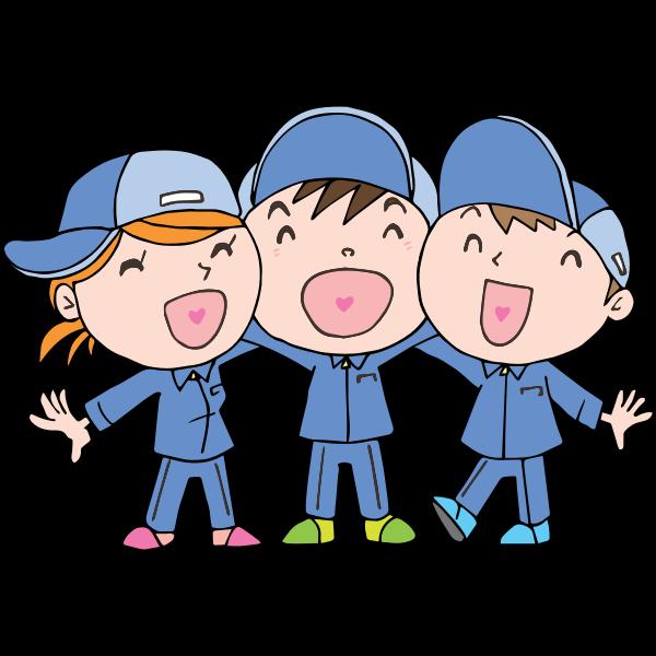Laughing children cartoon style