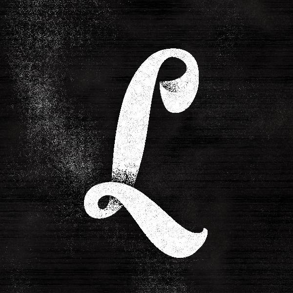 chalkboard letter