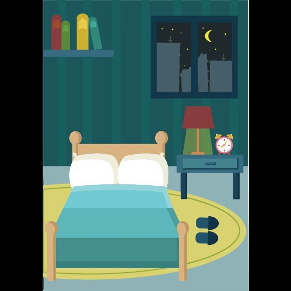 Night Bedroom Scene By SaraPavic