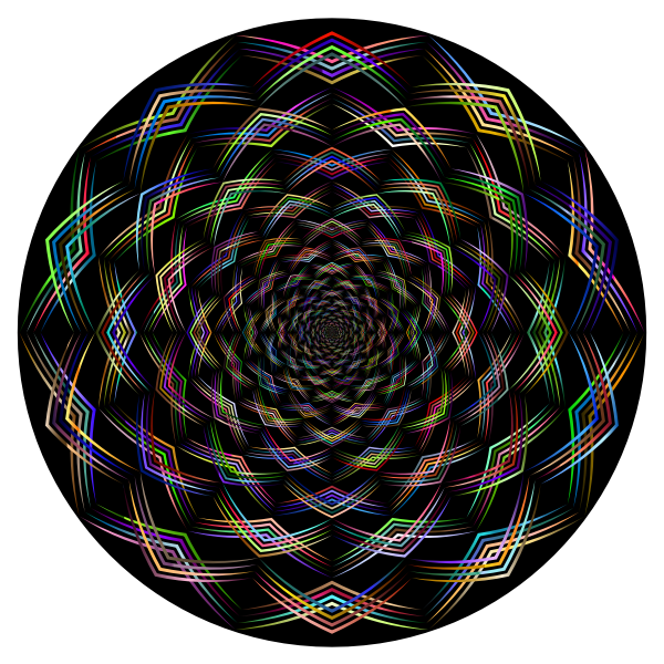 Geometric Lines Vortex Chromatic