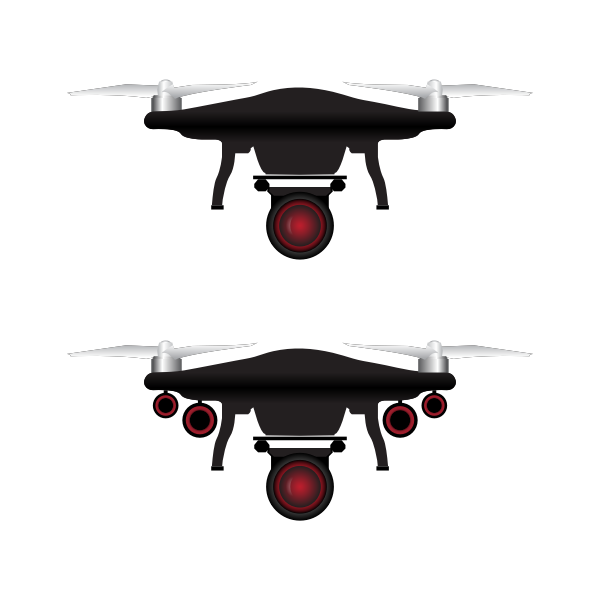 Two camera drones