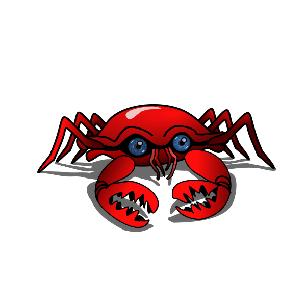 little crab with blue eyes