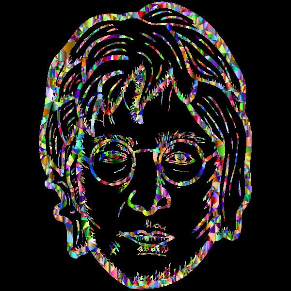 John Lennon Portrait By blambasa Vivid Chromatic Low Poly
