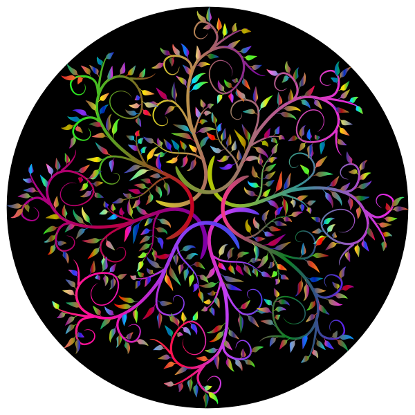 Branches With Leaves Mandala