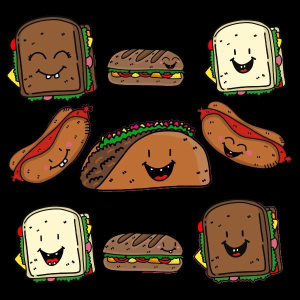 Anthropomorphic Food By Katillustrationlondon