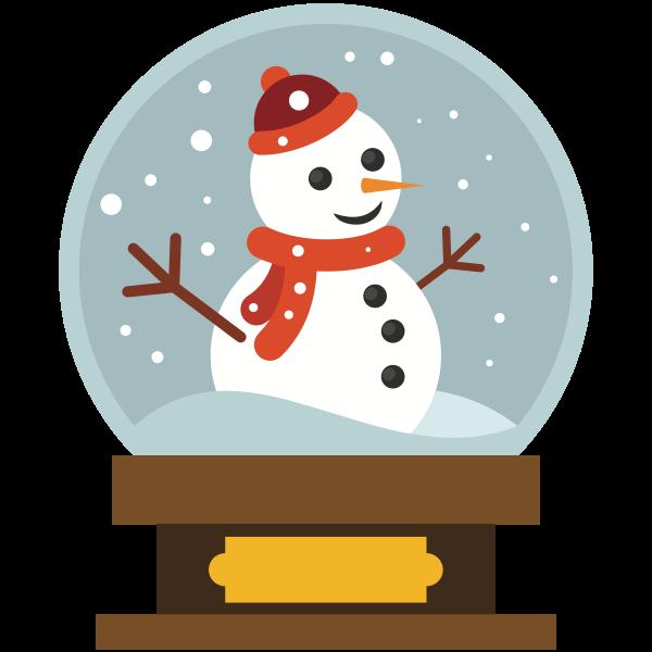 Snowman in a crystal ball