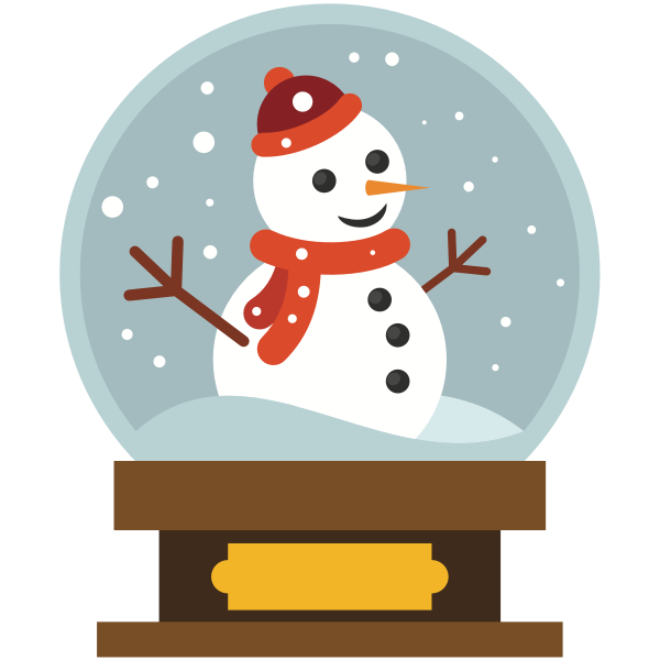 Snowman in a crystal ball