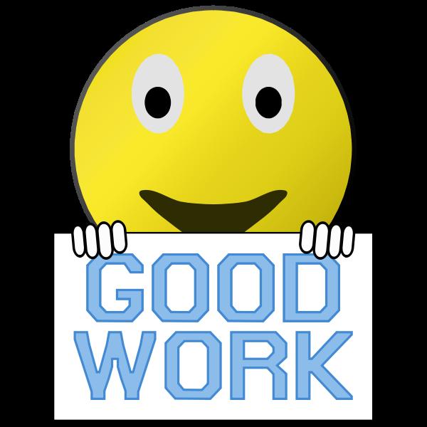 Good work smiley
