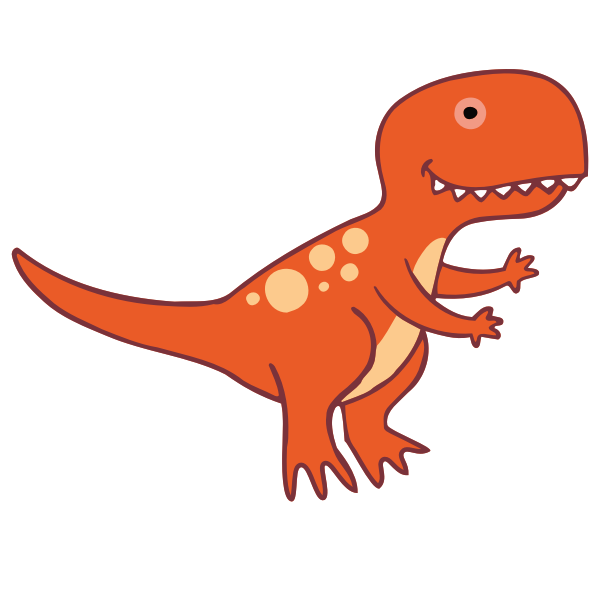 Dinosaur 3 T-Rex with Feet