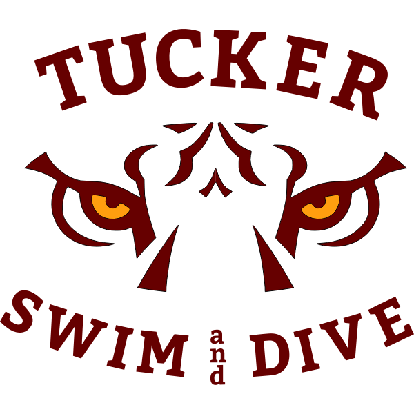 tucker swim and dive team logo