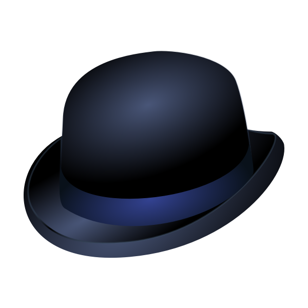 Bowler Hat with Blue Band