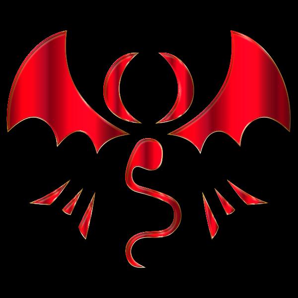 Fantasy Dragon Logo By Falco276 Crimson Enhanced