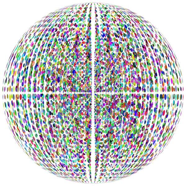 Abstract Information Technology Design 3D Network Grid Sphere