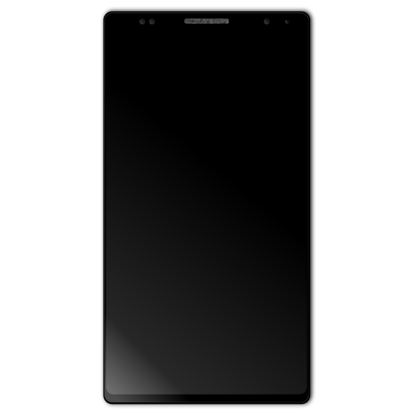 Android black smartphone