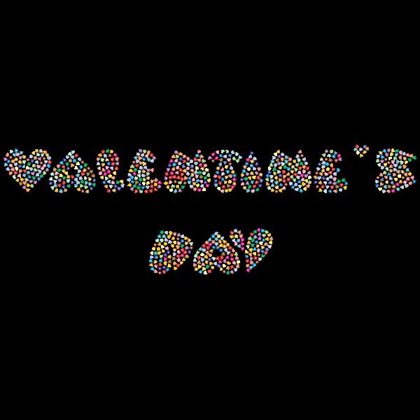 Valentines Day Typography Prismatic
