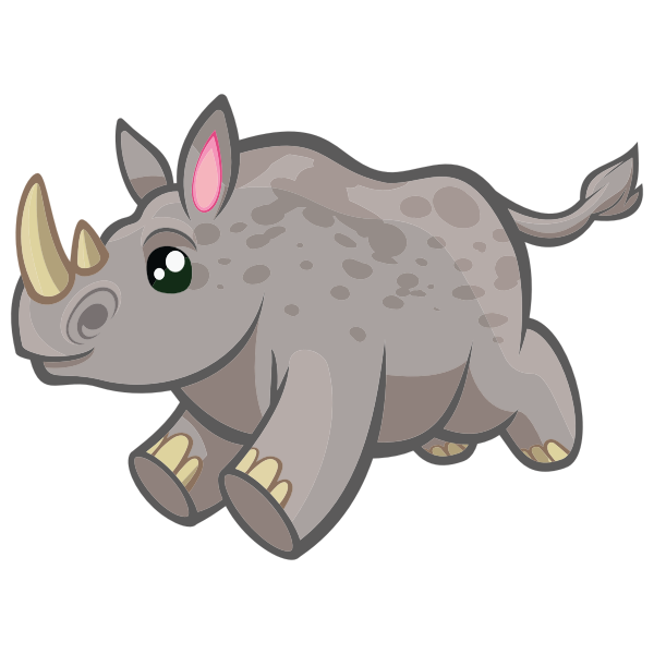 Rhinoceros running