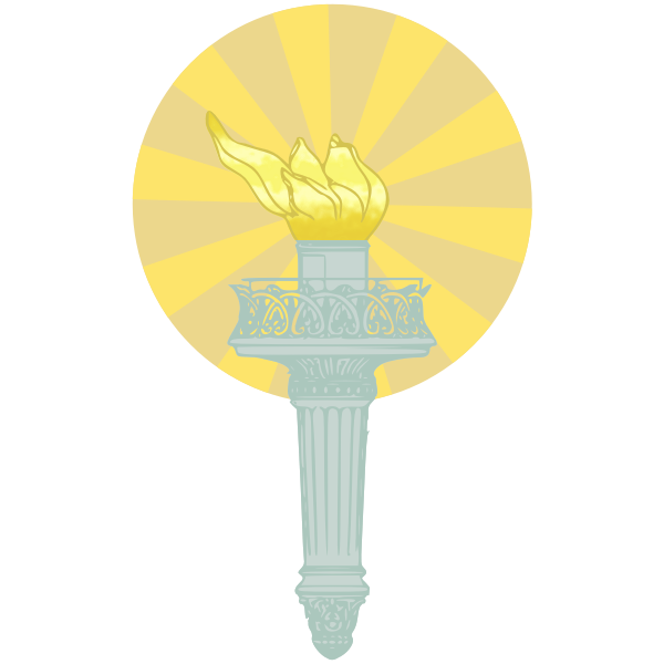 Liberty Torch colored