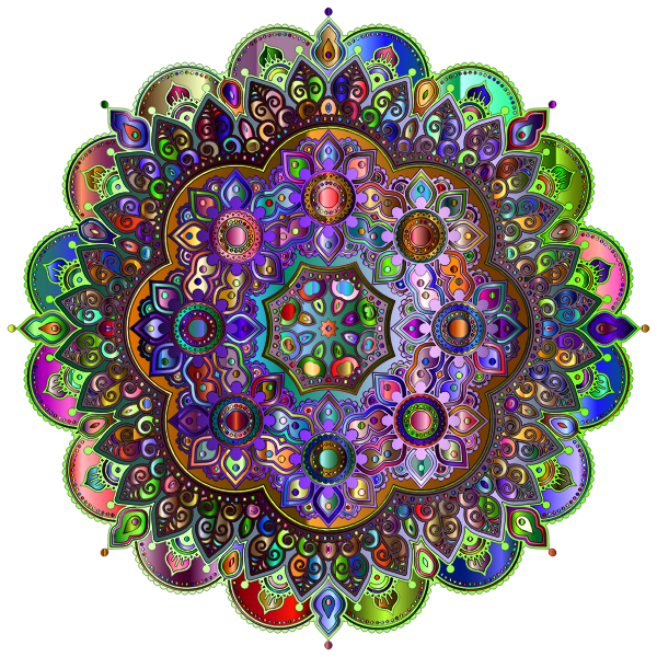 Floral Mandala Line Art Chromatic