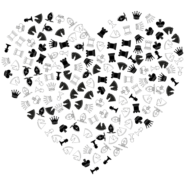 Chess Pieces Heart