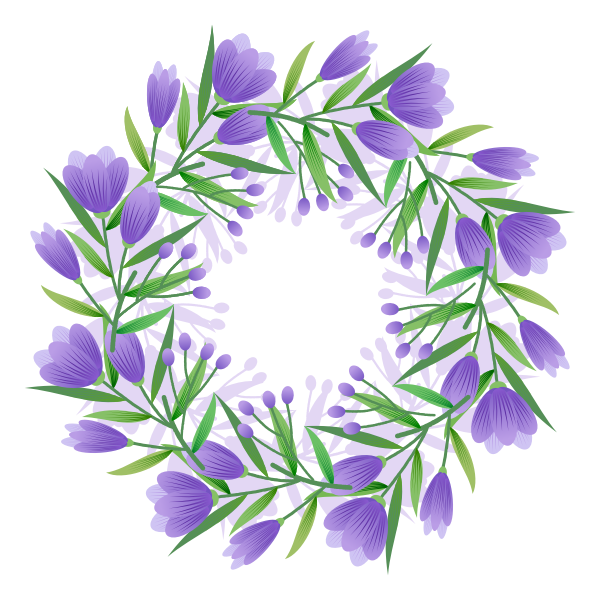 Circular crown of flowers-1