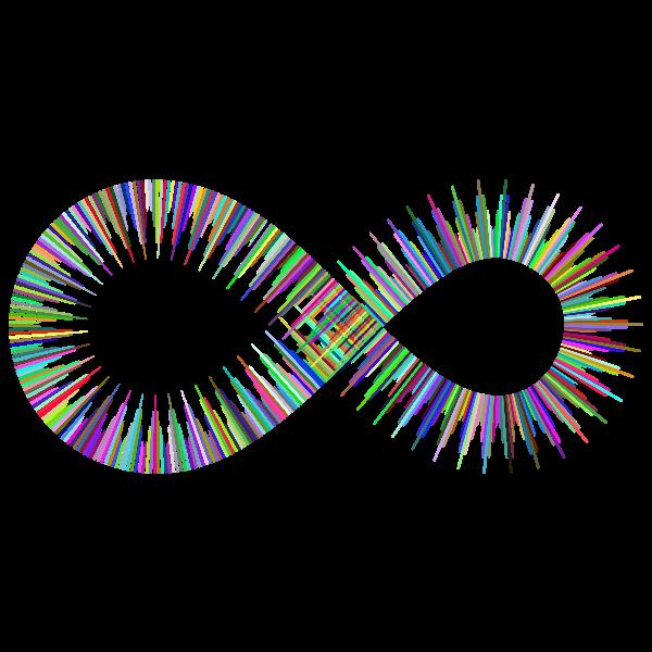 Art Deco Style Infinity Symbol Prismatic