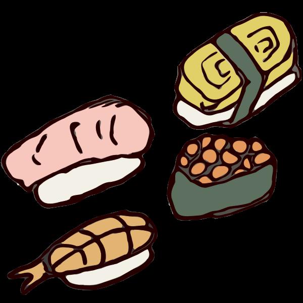 Hand Drawn Sushi