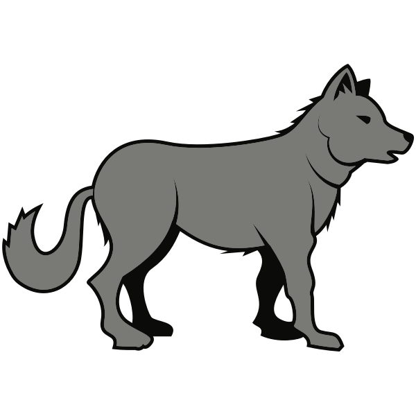 Wolf grey silhouette