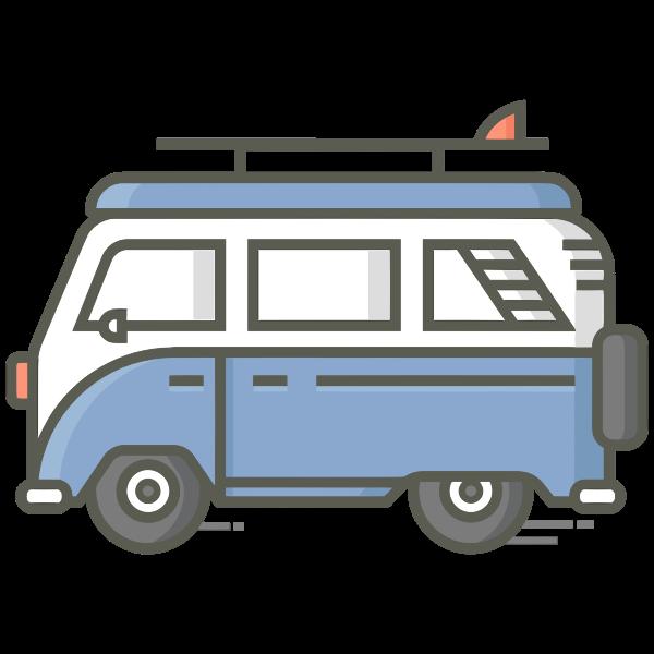 Retro Van Icon By Pettycon