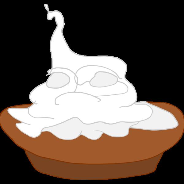 Pie with cream vector image