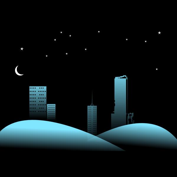 Deep Night Cityscape