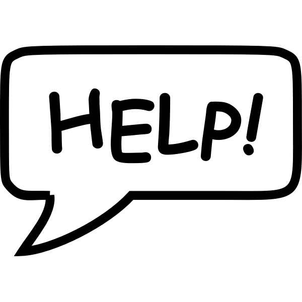 ''Help'' speech bubble