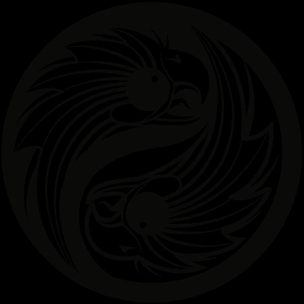 Eagles Yin Yang Symbol