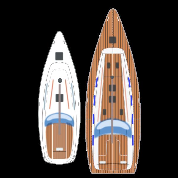 Sail Yacht Top view