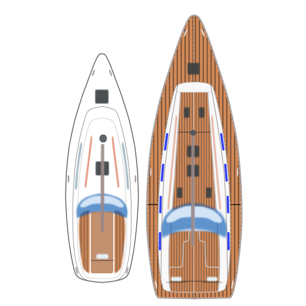 Sail Yacht Top view