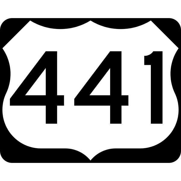 U.S. Highway 441 Shield (MUTCD #M1-4, Public Domain)