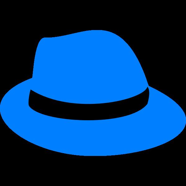 flatten blue fedora