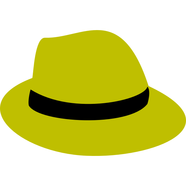 flatten yellow fedora