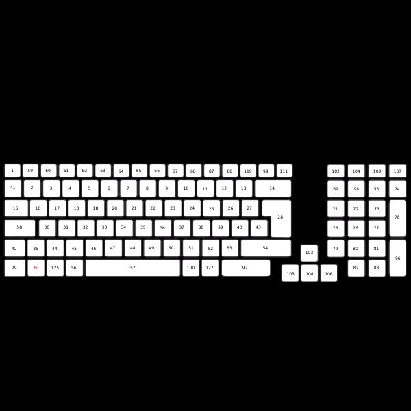 Compact Computer Keyboard UK