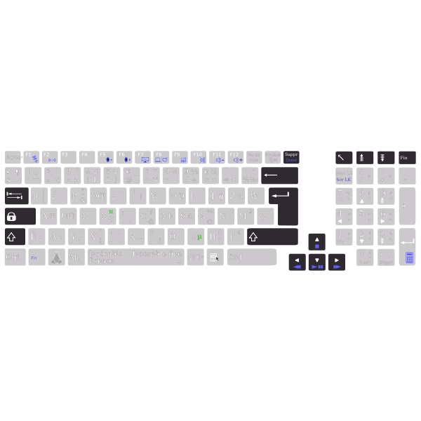 Layout editor with bépo keyboard Asus K93SM