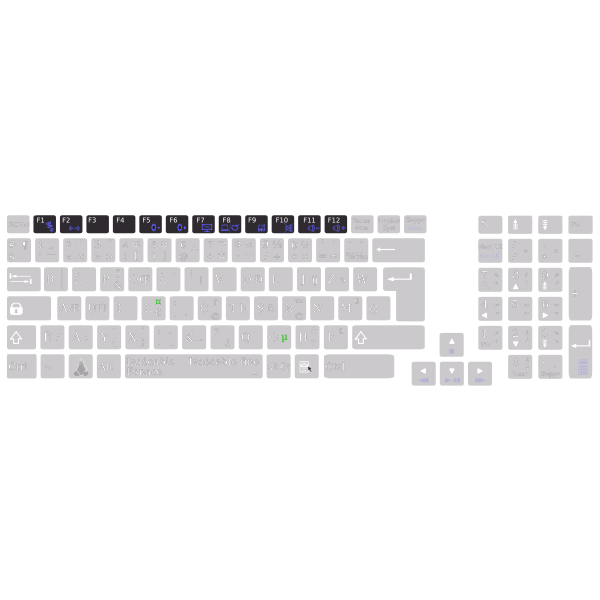 Layout general keys functions with bépo keyboard Asus K93SM