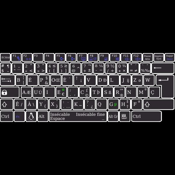 Layout base bépo keyboard Asus K93SM