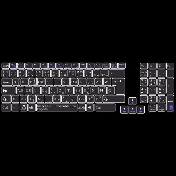 Bépo keyboard Asus K93SM