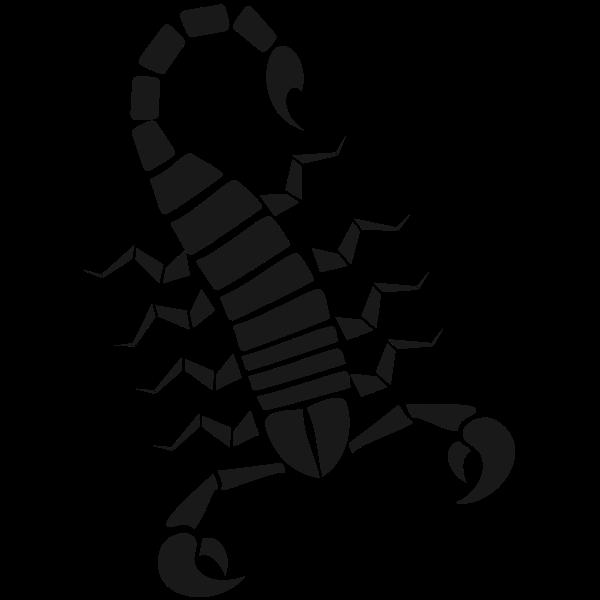 Scorpion stencil art silhouette