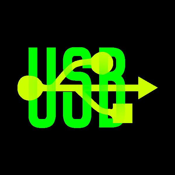 Green & Yellow USB Icon