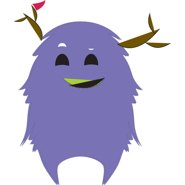 Purple Monster with Antlers