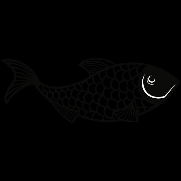 Fish stencil art silhouette