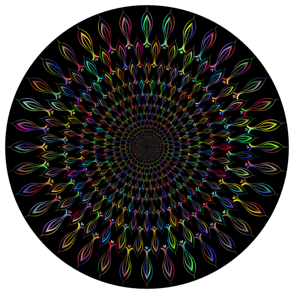 Abstract Floral Vortex Polyprismatic