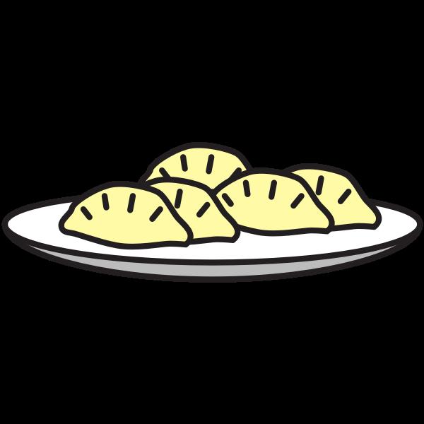 Small plate of gyoza