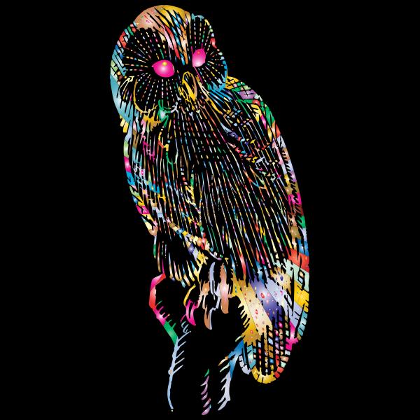 Vintage Owl Line Art Prismatic